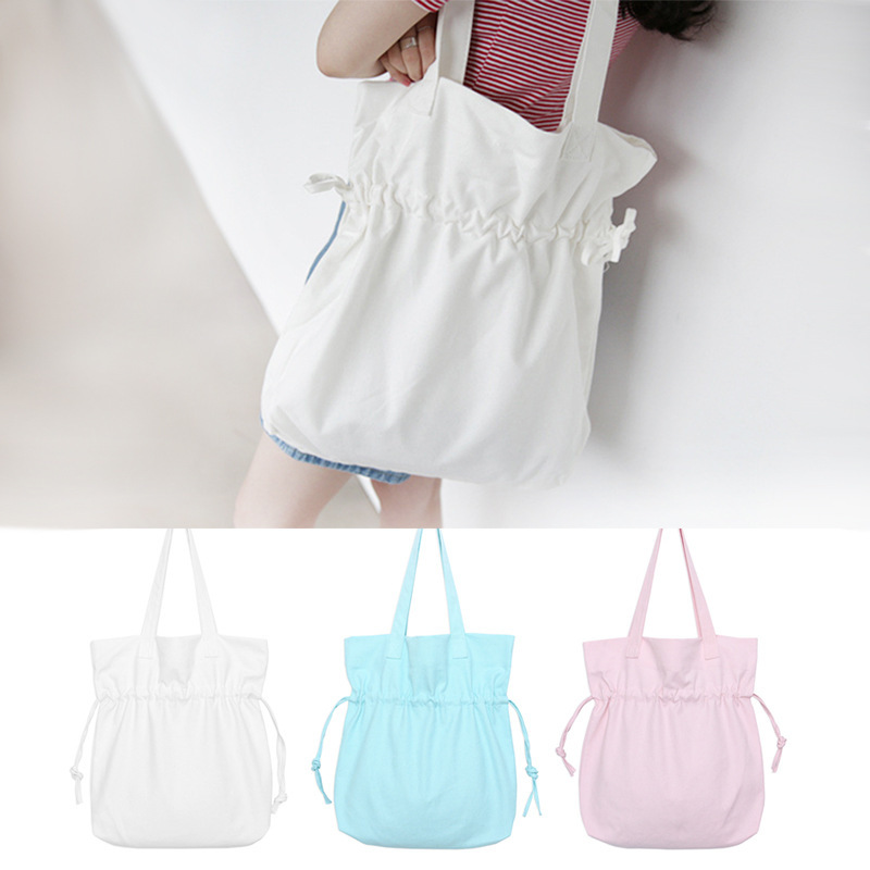 3 Colors Pink /Blue/White Women Handbags Canvas Tote bags Reusable Cotton For Women Shopping Bag Capacity Bag BB324 handbag