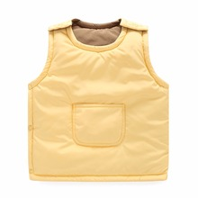 Children's Clothing Kids Waistcoat 2016 both sides to wear in the children's cotton-padded jacket vest boys and girls vest warm