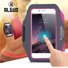 """ALANGDUO 5.5"""" Universal Waterproof Running Sport Armband Case For iPhone 7 6 6S Plus 5S 5 SE For Galaxy S7 S7 Edge S6 Edge Plus"""
