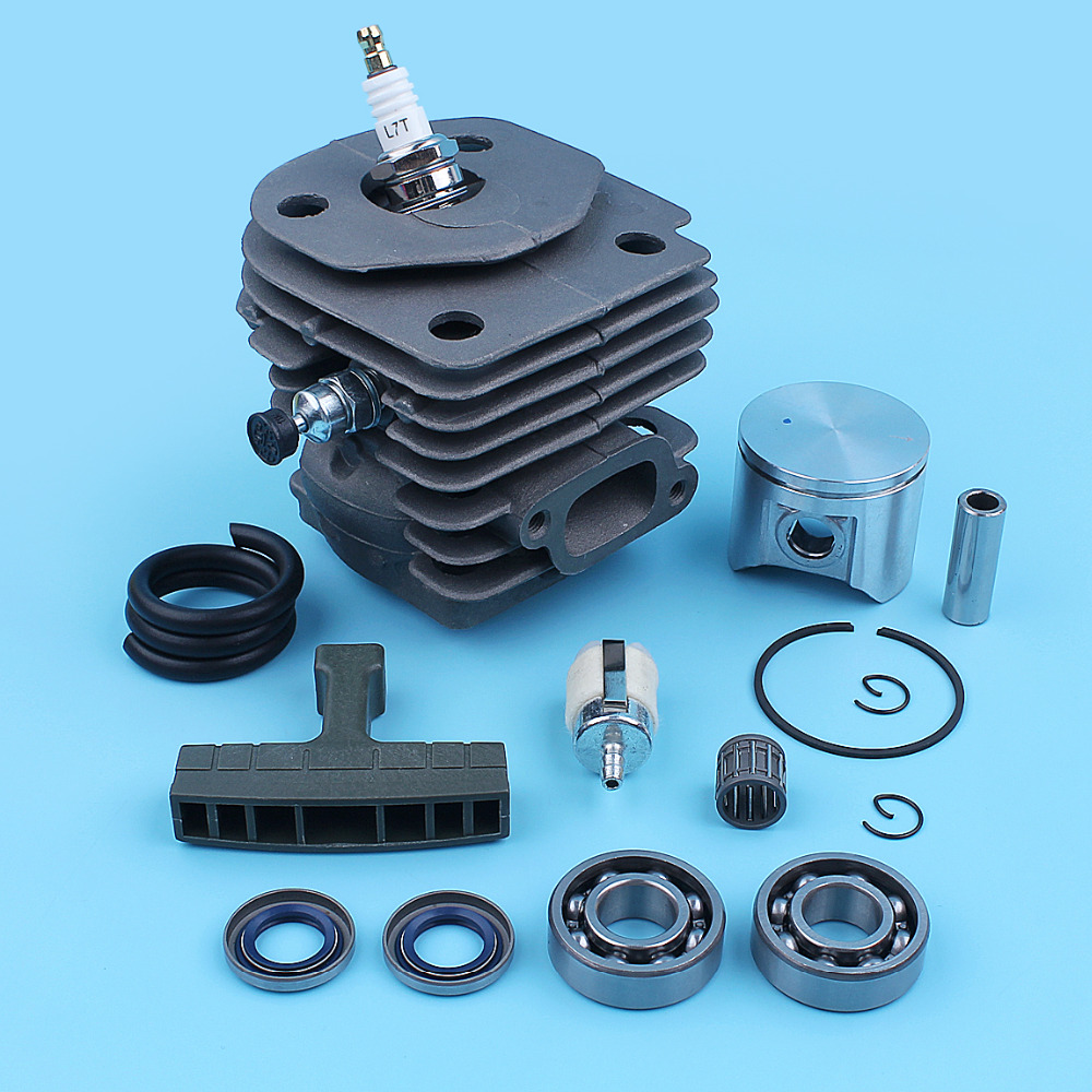 Nikasil 47mm Cylinder Piston Kit For Jonsered 2156 2159 CS2156 CS 2156 EPA CS2159 CS 2159 EPA Chainsaw Ball Bearing Gasket Set