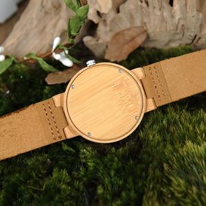 Image 5 - BOBO kuş LP20 erkekler kol saati moda bambu Quartz saat Montre Homme İskelet yusufçuk hayvanlar İzle erkekler