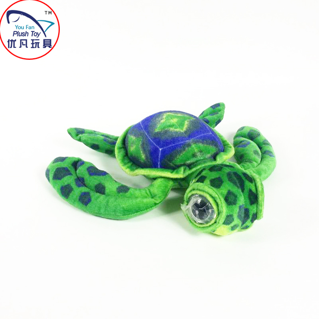 2016 Hot Sea Turtle Stuffed Toy Green Color 60 Eyes Plush Animal Gift