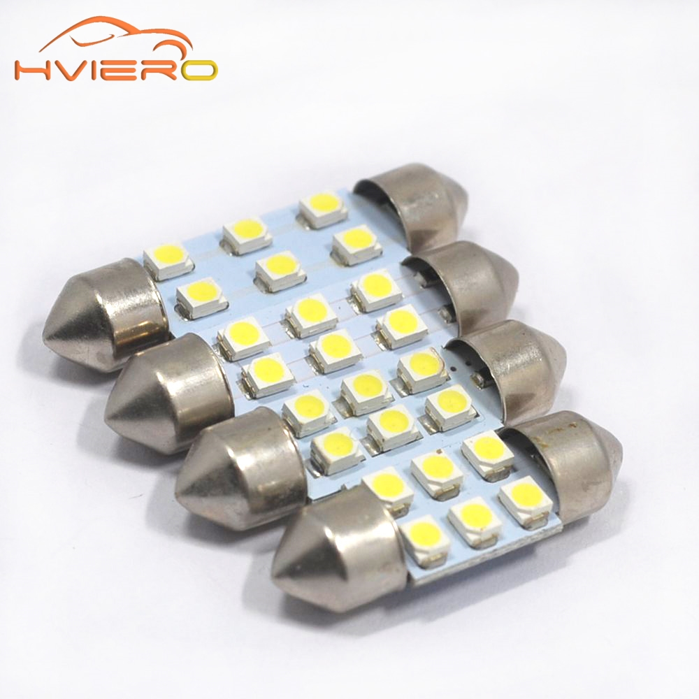 White 10Pcs 3528 1210 6 Smd 6Led Car Led 31mm 36mm 39mm 41mm C5w Festoon Dome Light Auto DC 12V Reading Bulbs Dome Lights 1pcs 31mm 36mm 39mm 41mm white 3528 1210 car light 8smd 8 led c5w festoon dome lamp bulb dc 12v festoon dome car light bulb