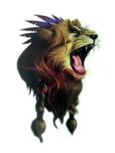 Body Art Beauty Makeup Roar Wild Lion Tattoo 3D Waterproof Temporary Tattoo Stickers