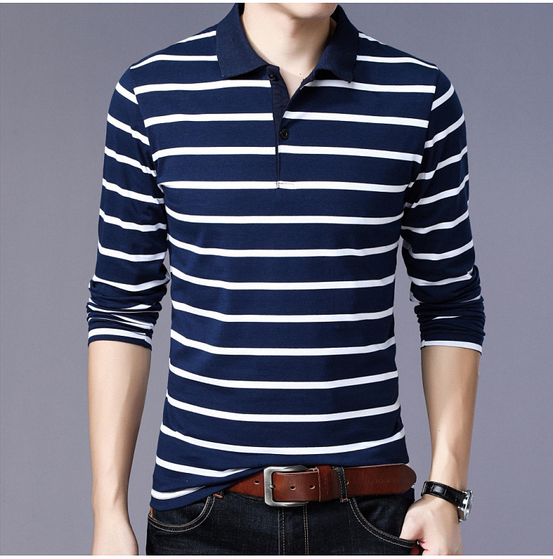Casual Striped Design 2019   Polo   Shirt Men Plus Asian Size 5XL 4XL 3XL-M Spring Autumn Long Sleeve 95% Cotton