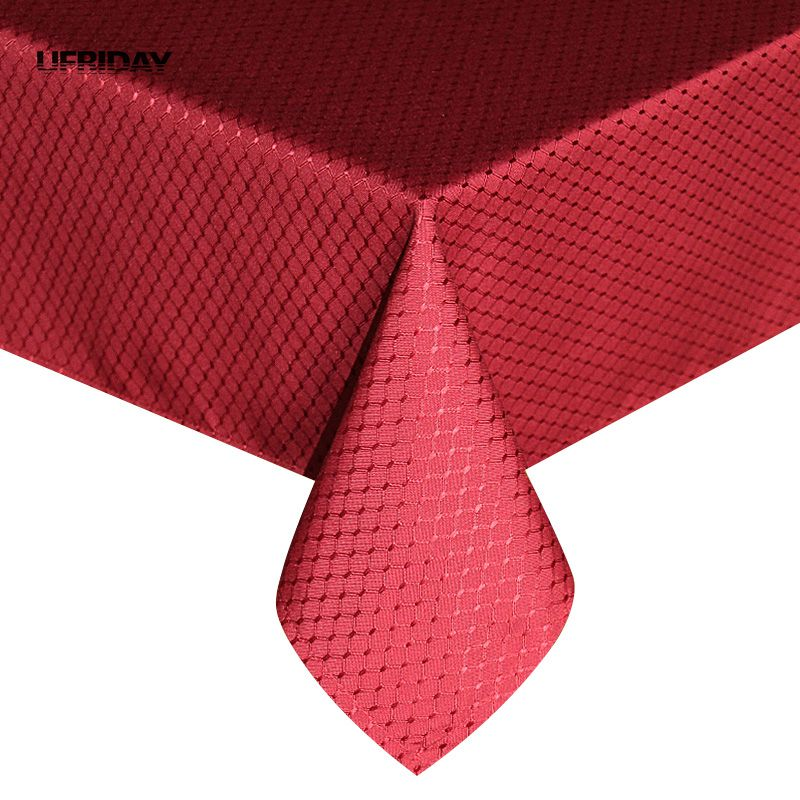 UFRIDAY gusti poliester stolnjak pokrivač crveni stolni tkanina hotelski blagovaonica stol prekriven čvrstim vodootpornim stolnjakom dekoracija vjenčanja
