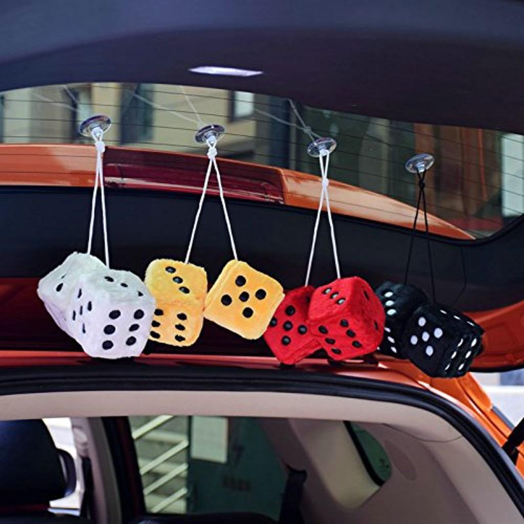2 шт украшение автомобиля автомобиль-шкентель стиля Цвет плюшевый кости автомобили задние автомобили интерьерные украшения автомобиля Стайлинг