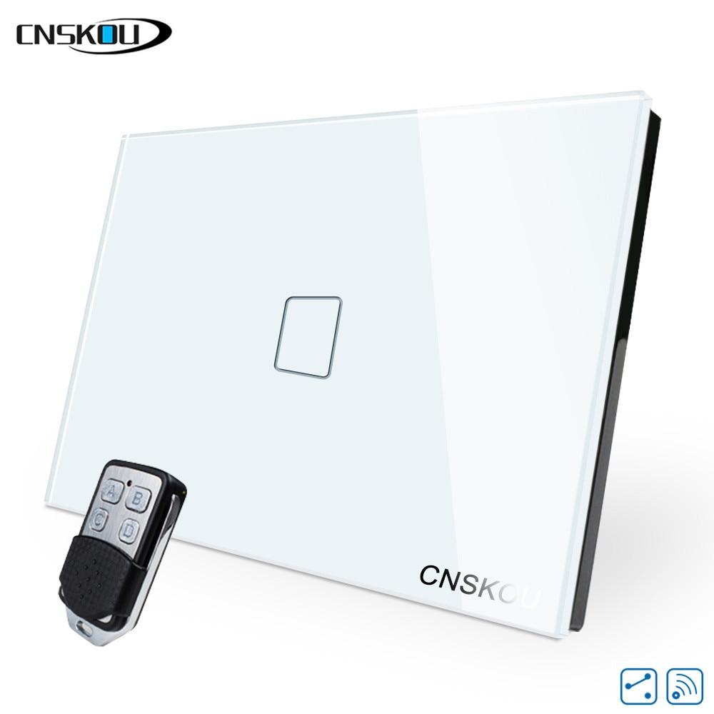Cnskou Us Wireless Remote Control Light Wall Switch,433mhz One Gang Two Way Wall Switch,110v Switch