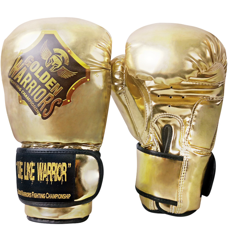 new arrive gold color gym fitness usage boxing glove gear sanda punch bag kicking mma gloves