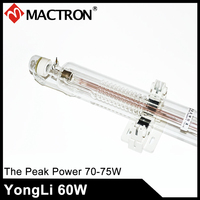 Yongli/SP 1200mm Dia 60mm High Stability 60W Co2 Laser Tube For Laser Engraving Machine