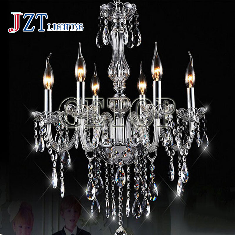 J best price fashion K9 Crystal Chandelier Modern Clear luxurious Candle Featured Cristal Pendants for dining room living room best price 5pin cable for outdoor printer
