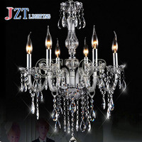 J best price fashion K9 Crystal Chandelier Modern Clear luxurious Candle Featured Cristal Pendants for dining room living room