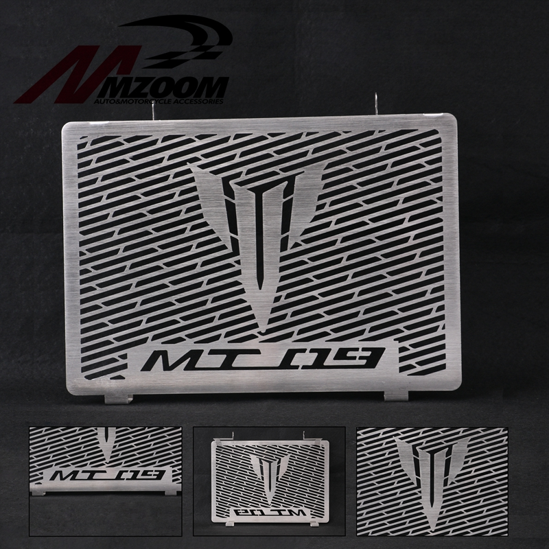MZOOM MT09 Radiator Grille Cover Guard Protector For Yamaha MT-09 FZ09 FZ-09 FZ 09 2014 2015 2016 2017 Black Stainless Steel for yamaha mt 07 mt07 radiator grille guard side cover protector for yamaha mt07 fz07 fz 07 2013 2014 2015 2016 new