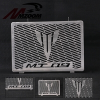 MZOOM MT09 Radiator Grille Cover Guard Protector For Yamaha MT 09 FZ09 FZ 09 FZ 09 2014 2015 2016 2017 Black Stainless Steel