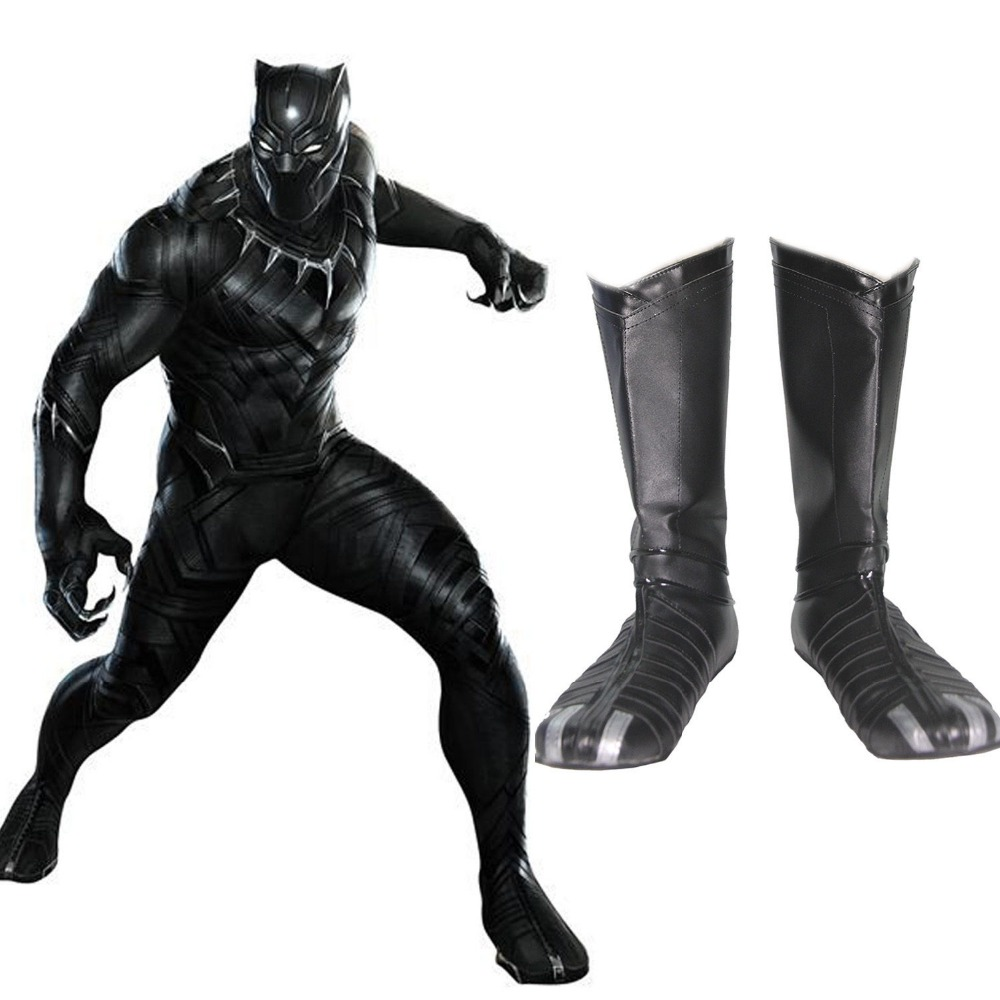 Black Panther Boots Captain America Civil War Cosplay Costumes Shoes Hero Props
