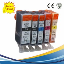 5 x PGI725 PGI 725 XL CLI-726 PGI-725 PGI-725XL Ink Cartridges For Canon Pixma IP4870 IP4970 IX6560 MG5170 MG5270 MG5370 Printer