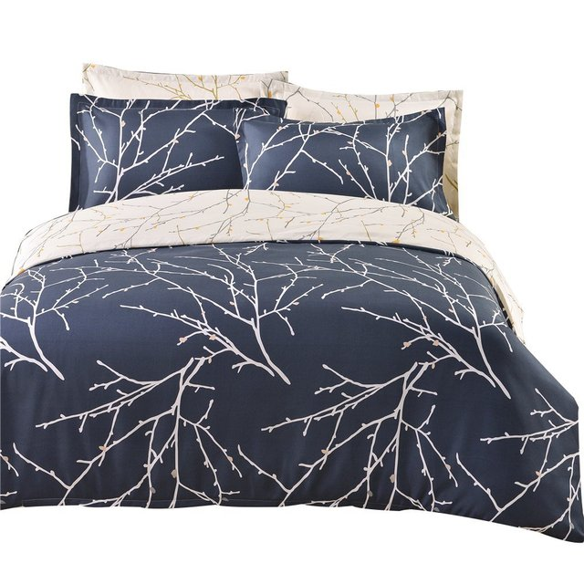 Winlife Tree Branches Bedding Microfiber Reversible Set Boyens Sets Twin Queen King