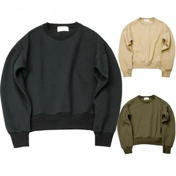 QoolXCWear new Sweatshirts simple solid men's Hoodies oversize drooping shoulders men's tops Q1097 1