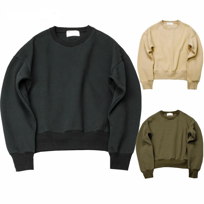 Qoolxcwear 새로운 스웨터 간단한 솔리드 남성 후드 특대 drooping 어깨 남성 탑스 q1097
