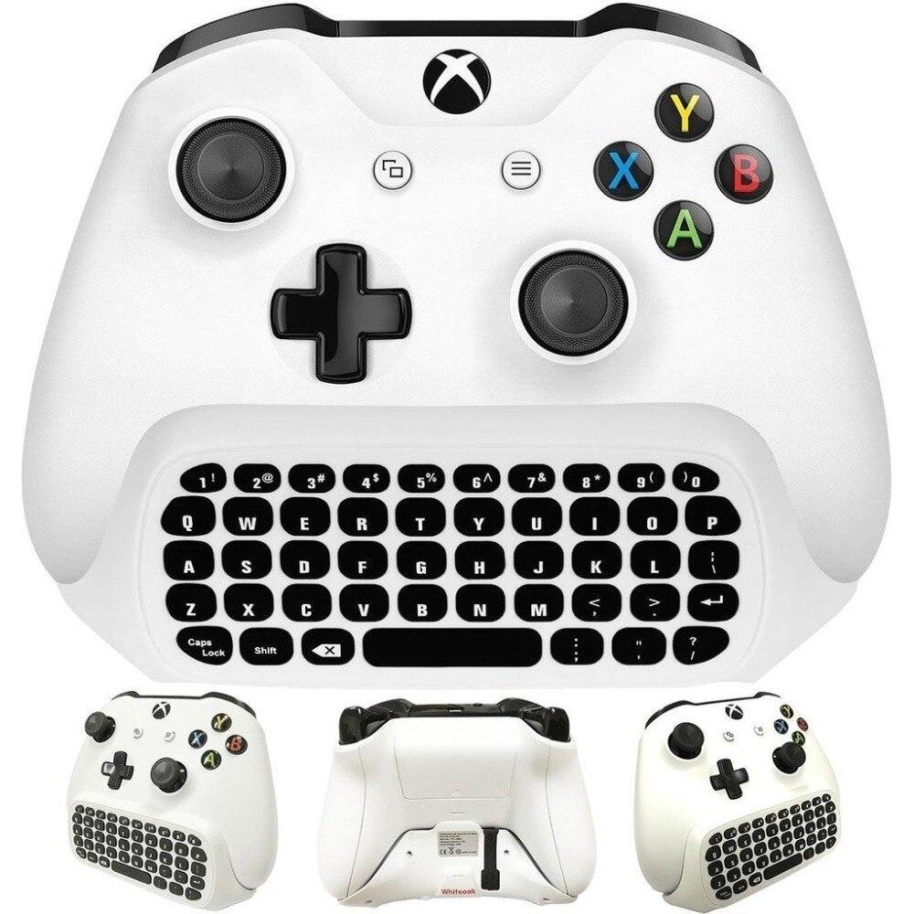 DOBE 2.4G Mini Wireless Chatpad Keyboard for Xbox One Xbox One Slim Xbox One X Xbox One Elite Controller with 3.5mm Audio Jack
