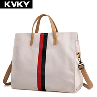 KVKY Brand Women Canvas Handbags Ladies Shoulder Bag Casual Travel Messenger Bag Female Beach Shopping Tote Bags Bolsas Feminina