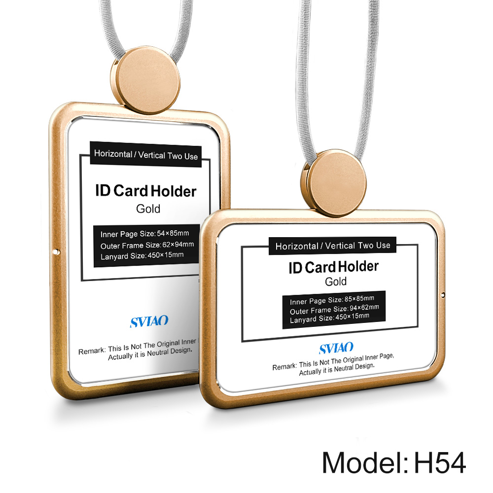 Hard ID Card Badge Holder Double Sides Clear Cover Transparent ...