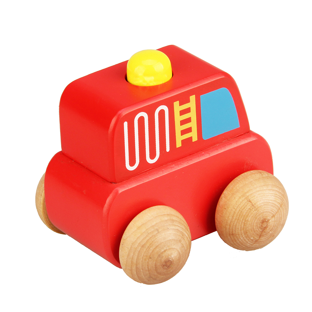 Baby Kids Mini Wooden Car Friction Vehicle Model Toy Car For Children Educational Toys Birthday Gift