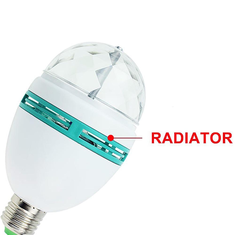 AC85-265V LED E27 Fırlanan RGB mərhələli işıq 3W / 6W rəngli - Ticarət işıqlandırması - Fotoqrafiya 4