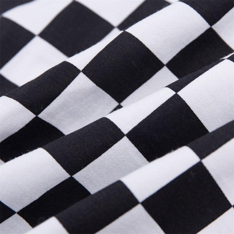 InstaHot Plaid Zipper Checkered Straight Pants Women Fashion Casual Slim Pockets Long Pants Black White Pencil Pantalon Femme 30