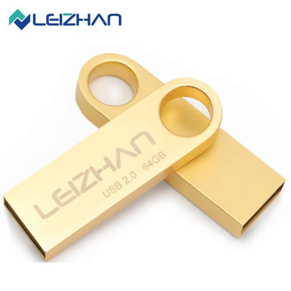 LEIZHAN USB דיסק און קי מתכת Pendrive USB כונן 64 gb 32 gb 16 gb 8 gb 4 gb usb מקל tablet עט כונן Keychain Photostick usb 2.0