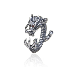 Drop Shipping Hot Rings Dragon Opening Ancient Silver Plated