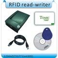 Избегать вождения RFID 125 КГЦ T5557/EM4305 id карты чтения и писатель RFID писатель usb порт Английский программное обеспечение