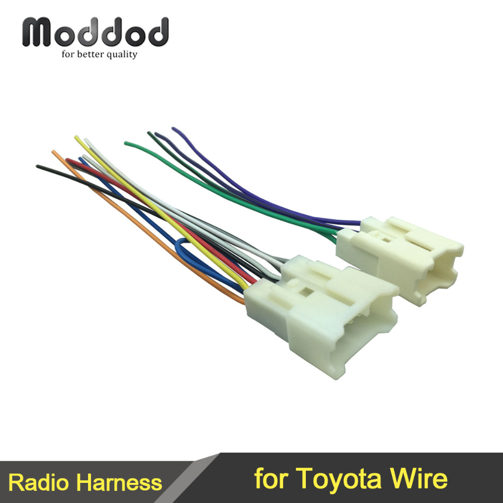 For TOYOTA Avalon Camry Corolla MR2 RAV4 Stereo CD Player Wiring Harness  Wire Adapter Aftermarket Radio Plugs-in Cables, Adapters & Sockets from  Automobiles ...