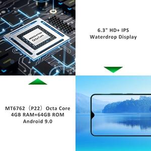"Image 5 - LEAGOO S11 Android 9,0 4G Smartphone 6,3 ""de agua pantalla 4GB 64GB 3300mAh Helio P22 13MP Cámara Dual huella digital smartphone"