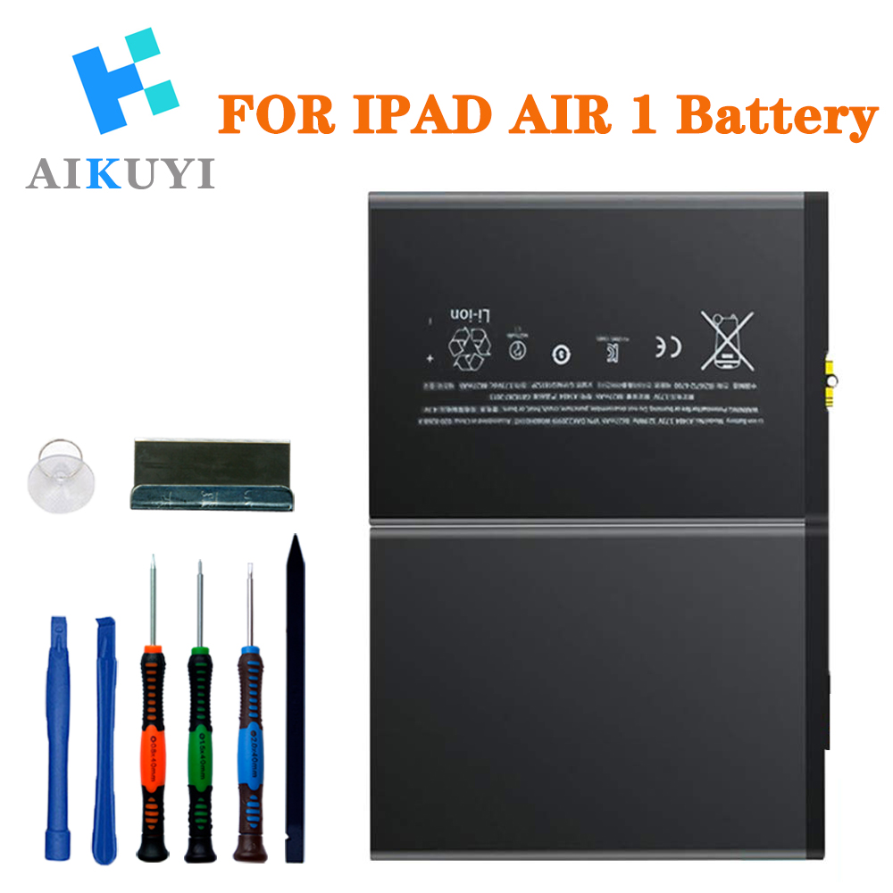 New Battery For IPad Air Battery Replacement Kit For IPad 5 Generation A1474, A1475, A1476 With Full Set Installation Tools