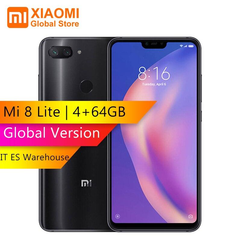 Xiao mi mi 8 Lite 4 GB 64 GB Version mondiale Mobile Snapdragon 660 Octa Core 2280x1080 double cartes SIM Smartphone 24MP caméra frontale