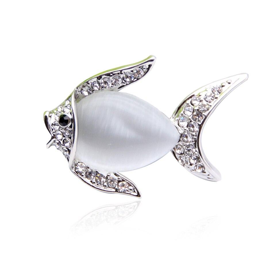 Նոր ոճ կանանց ձկներ բրոշե զարդեր Opal - Նորաձև զարդեր