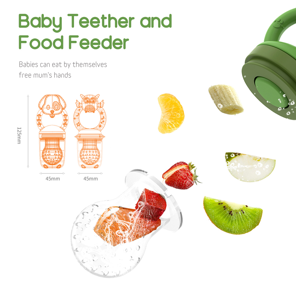 1Pcs Fresh Food Feeder Nibbler Baby Pacifiers Kids Fruit Feeder Nipples Feeding Safe Baby Supplies Nipple Teat Pacifier Bottles
