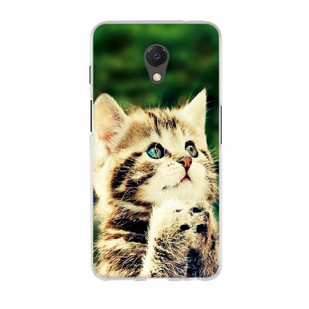 Para Meizu M6s funda protectora lindo gato estampado para Meizu M6S funda de teléfono suave silicona TPU para meiazul 6s Meilan 6s carcasa bolsa
