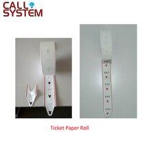 2 ม้วน/แพ็คบัตรกระดาษม้วนสำหรับ ticket dispenser ใน Queue Calling System 2000 pcs จำนวน
