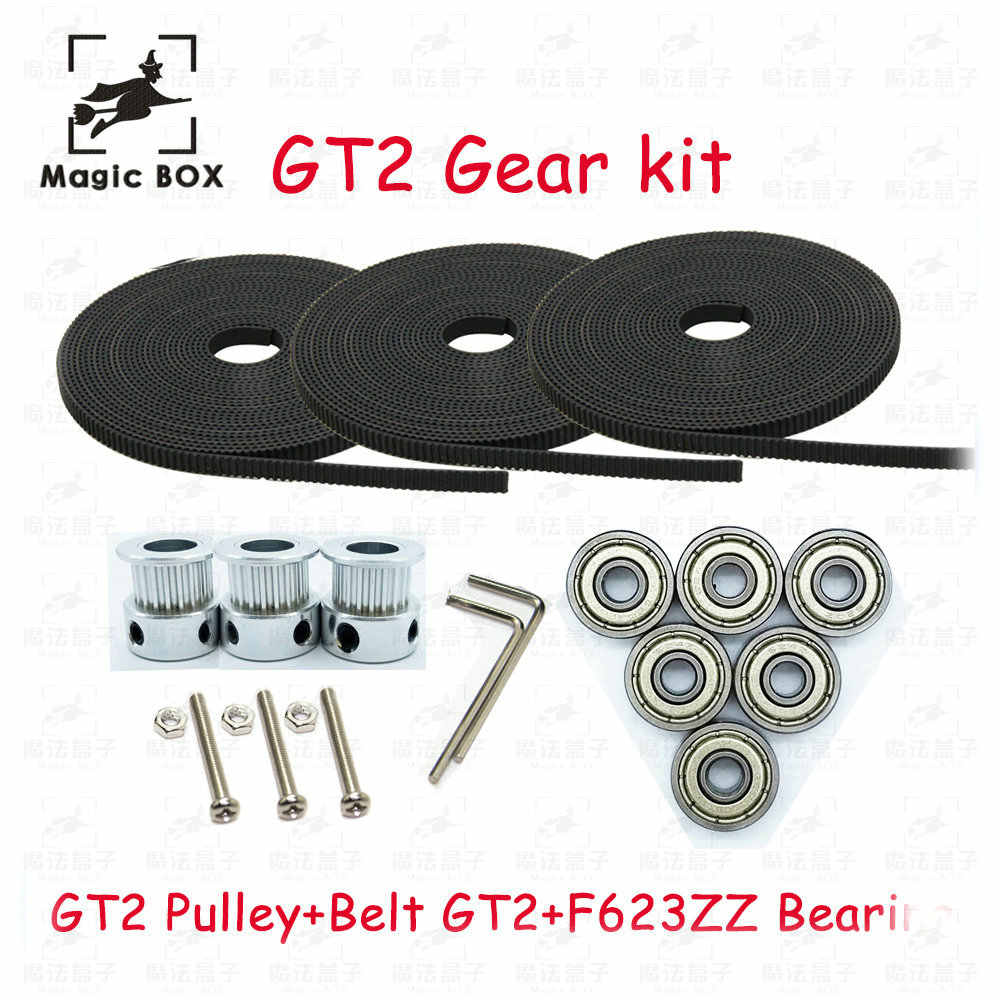 Detail Feedback Questions About 46mm Gt2 Gear Kit Carbon Rod 6x Mini Timing Belt 3x 2m 20 Tooth Wheel Pulley Bore 5mm F623zz