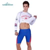 White Long Sleeves Shirt And Shorts Men Rash Guard Swimwear Surf Clothing Mens Diving Suits Swim Suit Spearfishing Kitesurf XXXL