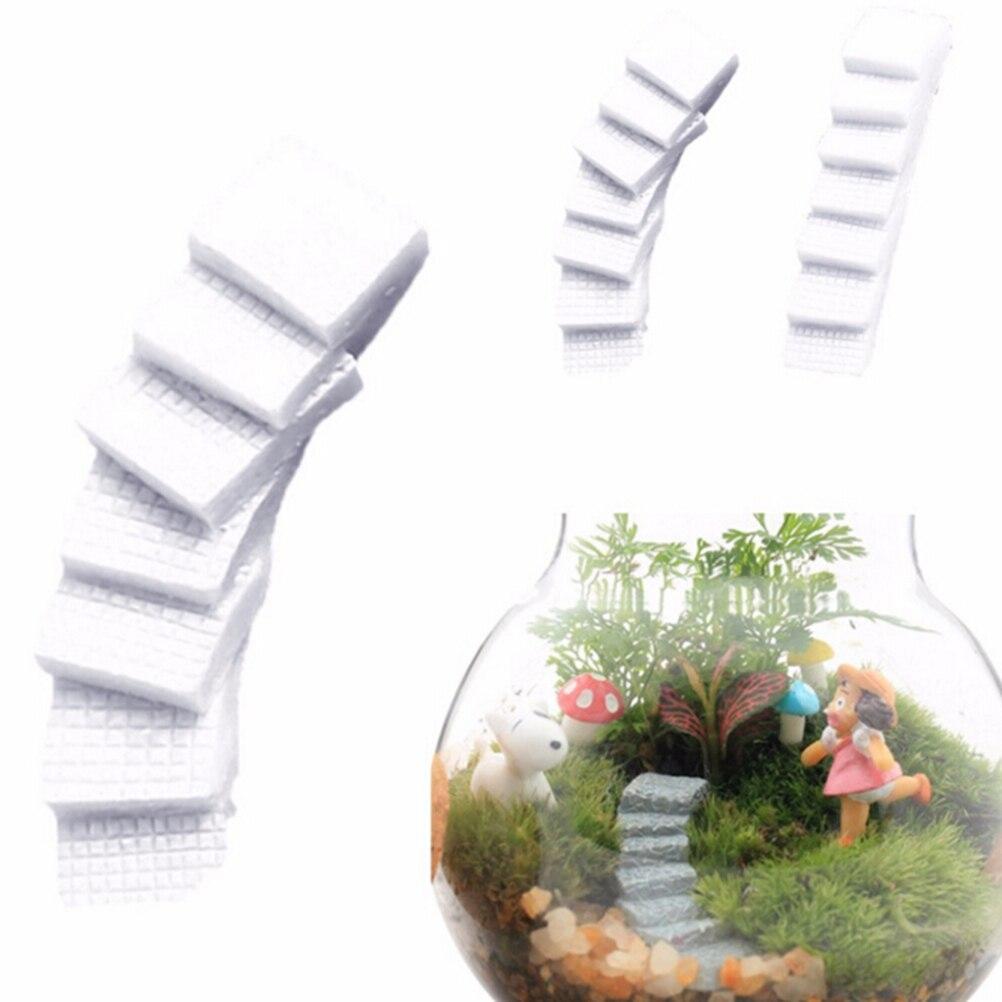 Miniature Landscape Bridge Stair Step Statues Fairy Dollhouse Garden Ornament