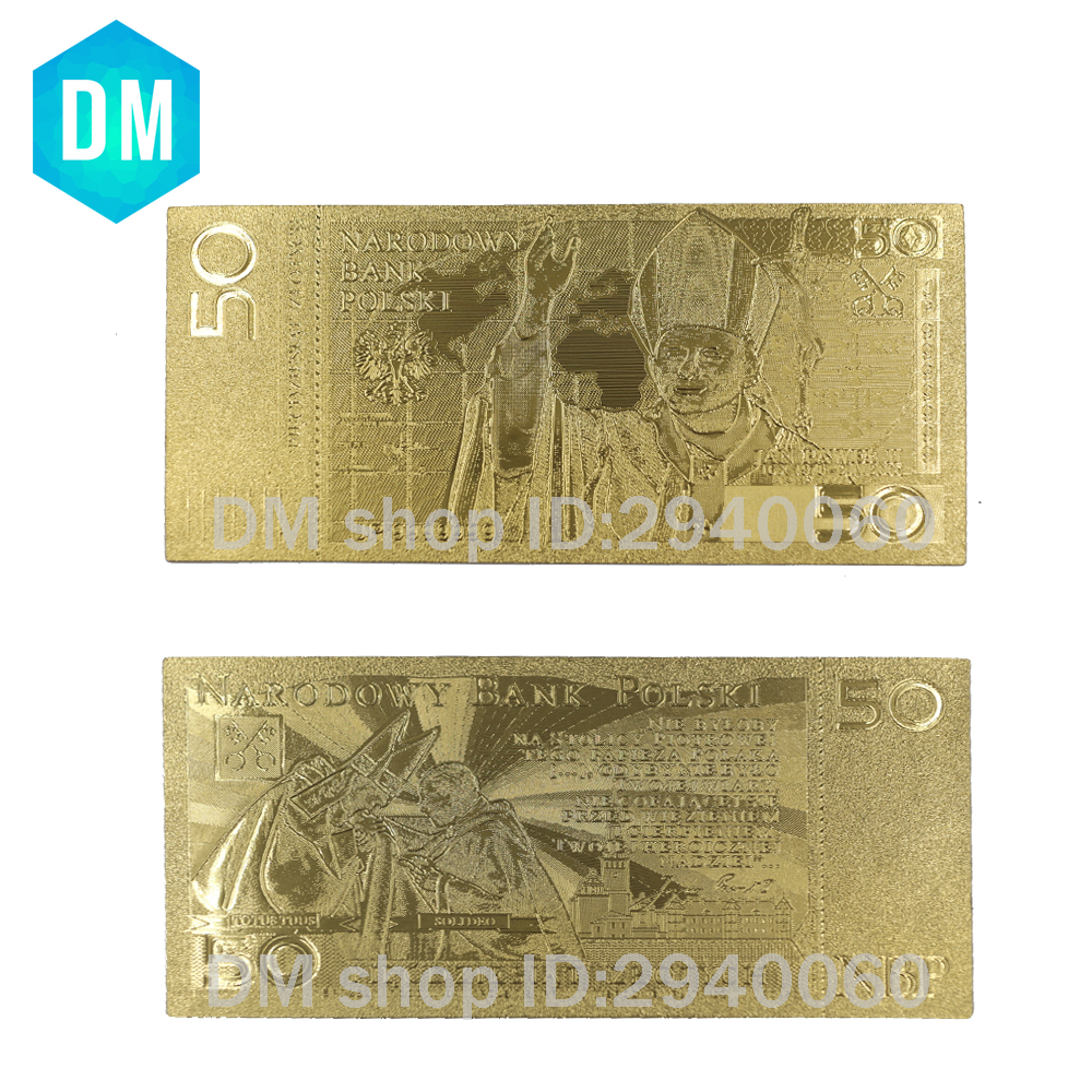 50 Zloty Poland Gold Banknote Pope John Paul II for