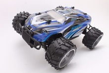 RC Car 27MHZ Rock Crawler Rally Car 2WD Truck 1:16 Scale Off-road Race Vehicle Buggy Electronic RC Model Toy S737-Blue