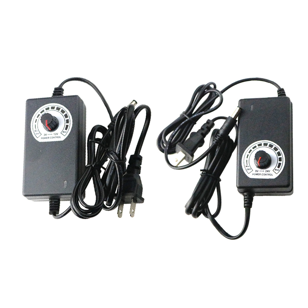 Adjustable AC//DC Adapter 3-12V 2A Power Supply Motor Speed Controller for DIY