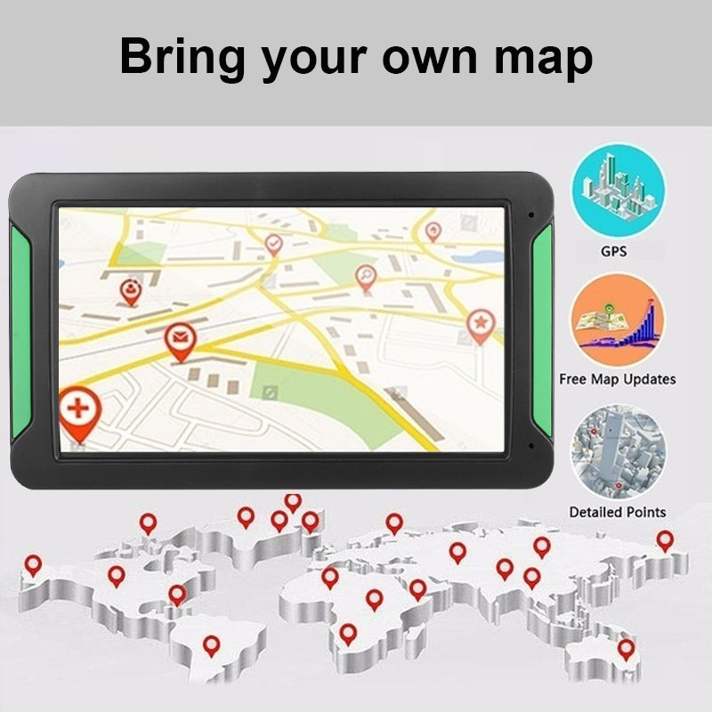 Gps навигатор система навигации транспортного средства Универсальный Автомобильный навигатор датчики цифровой 8 Гб 8 дюймов портативный FM передача Многофункциональный