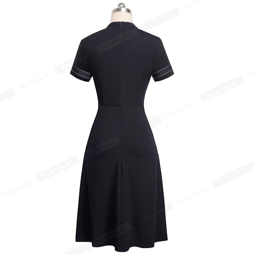 rVintage Retro Lace Patchwork Women Dress