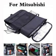new Car Seat Organizer Cooler Multi Pocket Bag For Mitsubishi Mirage Montero Montero Sport Outlander Pajero Mini RVR Space Star