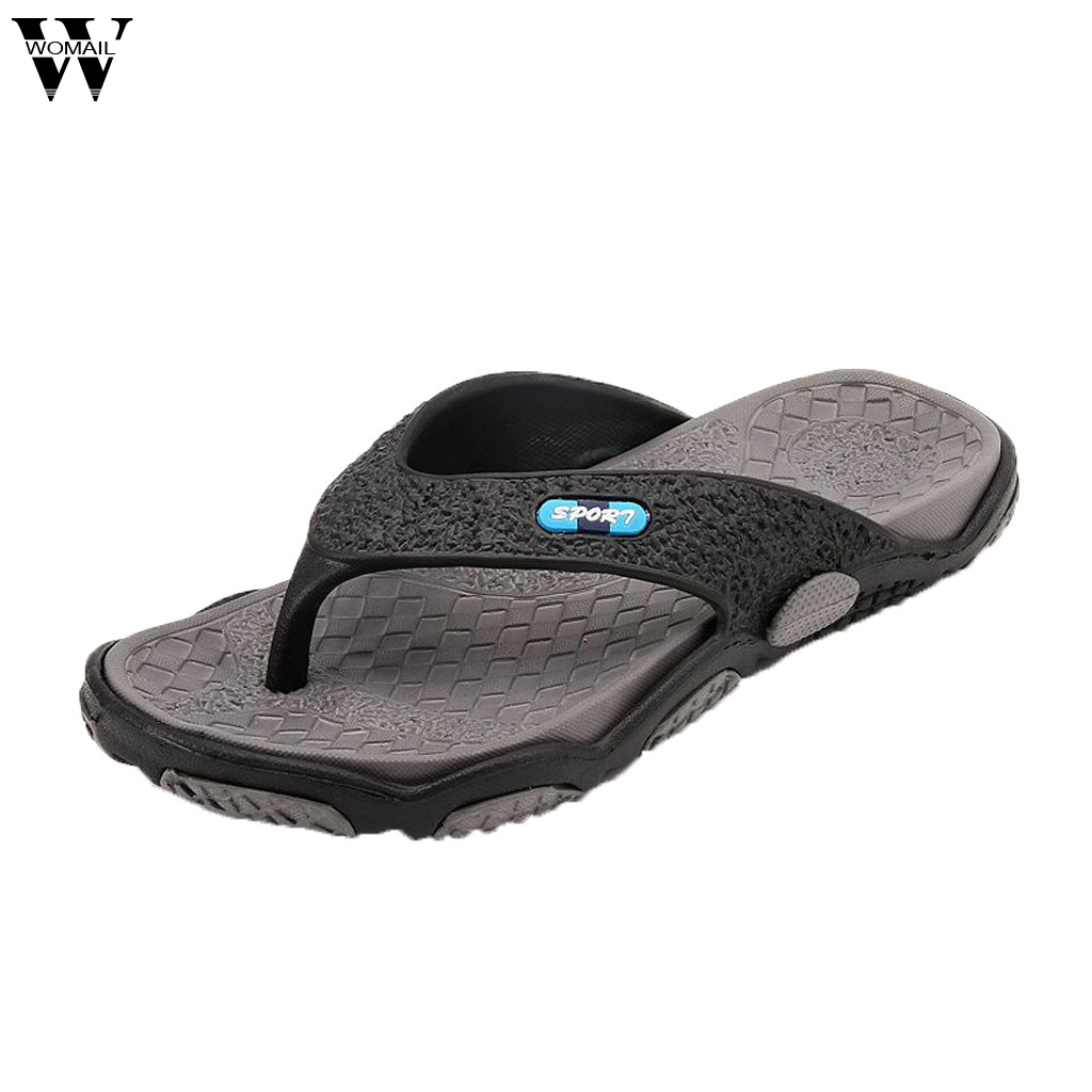 Male Shoes Slippers Massage Flip-Flops Bathroom Casual Summer Fashion Open-Toe title=